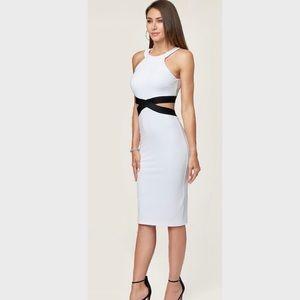 ⭐️NWOT⭐️ Bebe White Cross Detail Dress